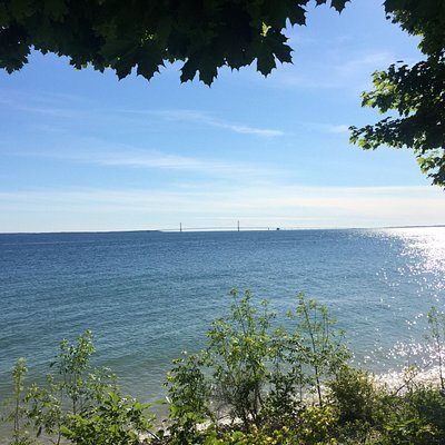 Long view from Mackinac Island