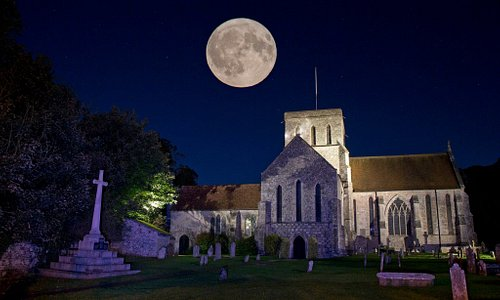 St Mary and St Melor at Night