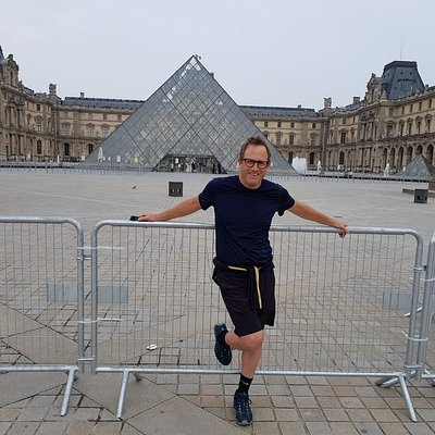 The Louvre about 2 miles in.