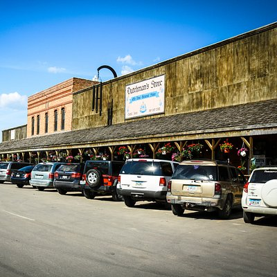 Outside of the Dutchman's Store in Cantril, Iowa