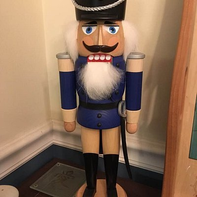 The blue soldier purchased from the Nutcracker House
