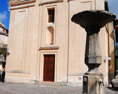 Facciata della Chiesa di San Lorenzo a Colle di Tora