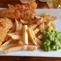 Anchor Cod Fillet with Mushy Peas Chinese Curry Sauce & Homemade Chips