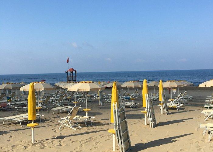 Una spiaggia bella comoda e funzionale