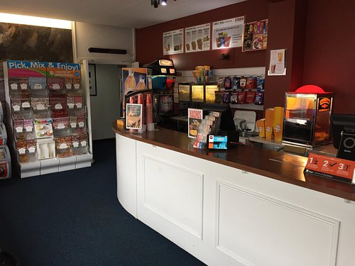 View of the box office & kiosk.