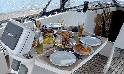 dinner aboard