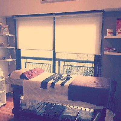 Consultorio principal. Aqui se realizan todos los tratamientos corporales y masajes.