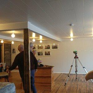 Preparing a new exibition in Pálshús. A story of 90 years of  Magnus Gamalielsson hf