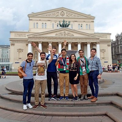 On our main meeting point in front of the Bolshoi Theatre