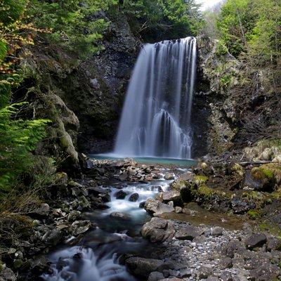 善五郎の滝:滝壺付近