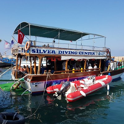 The  silver diving centre dive boat.
