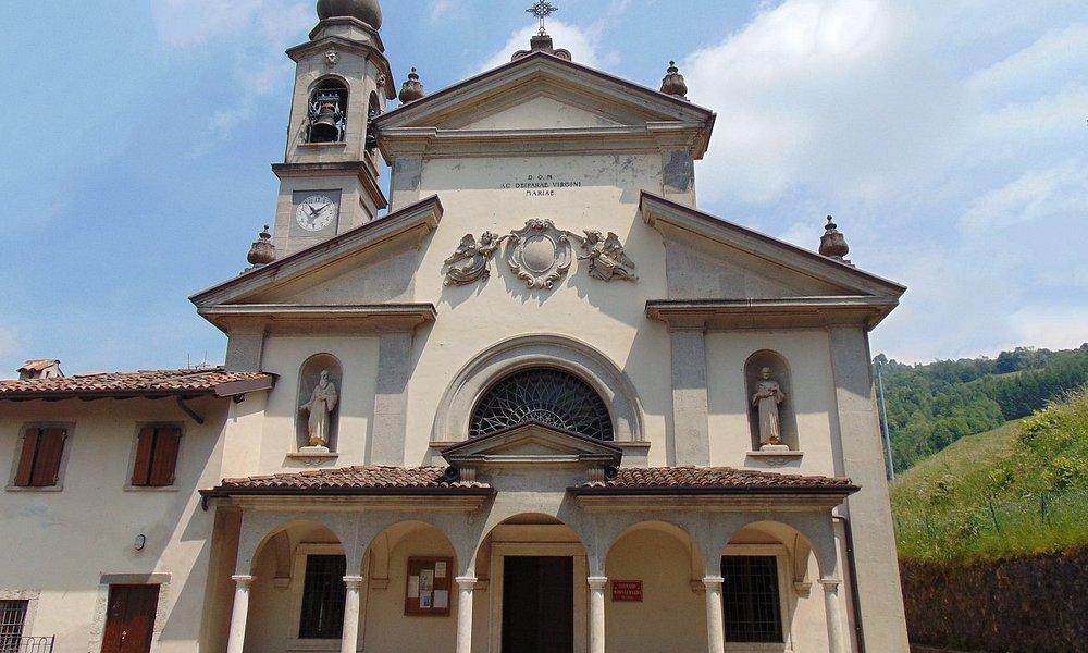 Casnigo- Bergamo Santuario della Madonna d'Erbia eretto in seguito a due apparizioni della Madon