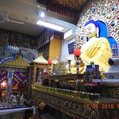 Lovely idol of Lord Buddha inside Tsuglag Khang
