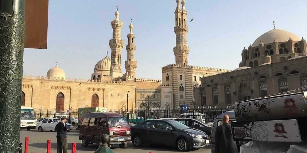 View of Al-Azhar Mosque.