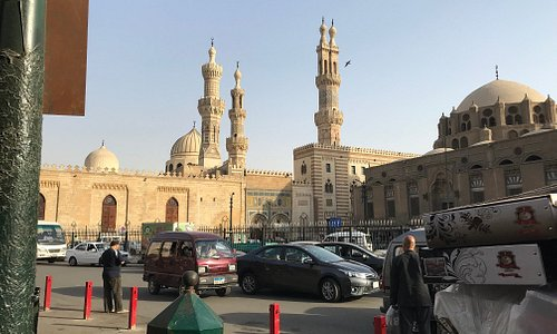 View of Al-Azhar Mosque.