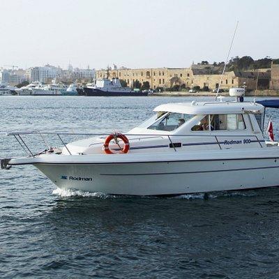 Our motor boat, Rodman 900