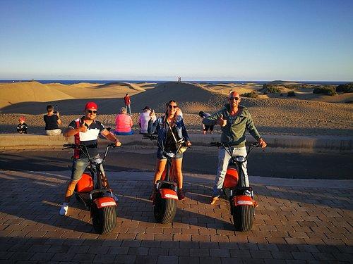 E- Scooter Chopper 2 seat Tour in Masaplomas  Playa del Ingles