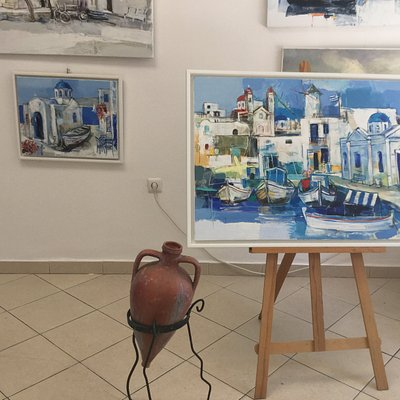 Oil on canvas paintings S.Nenov,ceramic-M.Armeikov