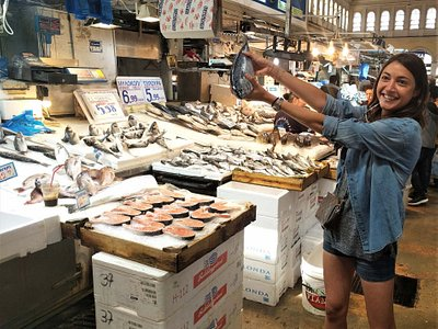 "Visiting Athens Fish market during our ""Get a Taste of Athens"" food tour"