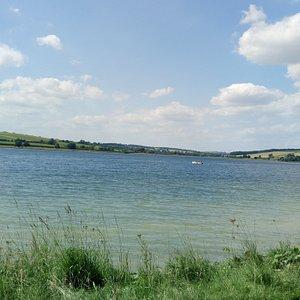 A view across the Eyebrook Reservoir.