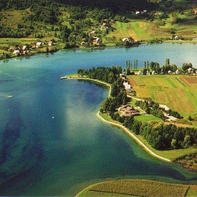 Panorama view of Sabljaci Lake.