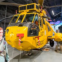 See the helicopter flown by Prince William when he was in the RAF.