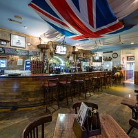 The themed bar/bistro was designed to emulate HMS Victory