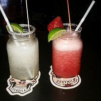 Margaritas! (strawberry and lime)