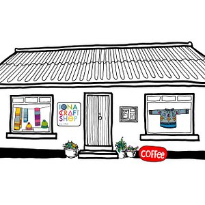 Our wee shop, drawn by Isla.
