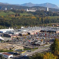 Chambéry - Centre commercial Chamnord (vue aérienne)