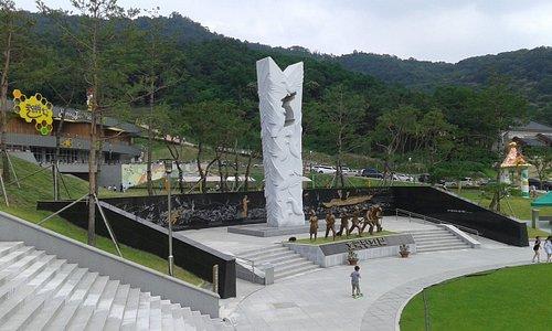 Le monument aux victimes de la bataille du fleuve Nakdong