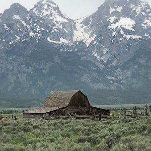 Historic barn seen on tour.