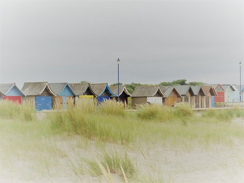 private beach huts to the south of the main beach and promenade
