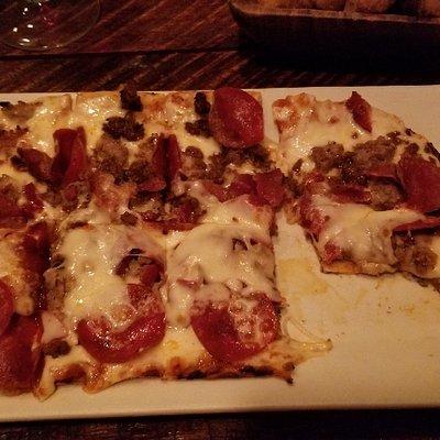 Okra, 4 meat pizza, the turkey sandwich