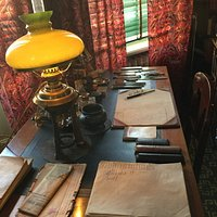 Strindbergberg's writing desk.