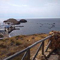Vyhlídka na výběžek vesničky La Isleta