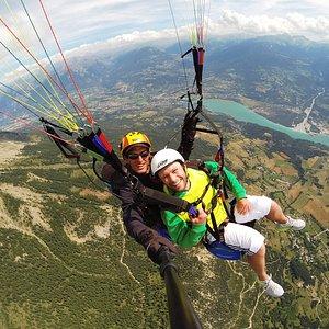 Vol en parapente depuis le Mont Guillaume