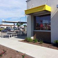 front patio entrance at McDonald's