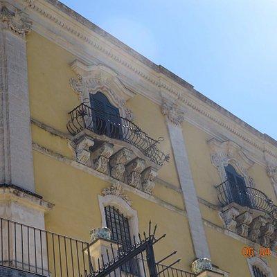 Palazzo Sortino Trono - An aspect of the facade