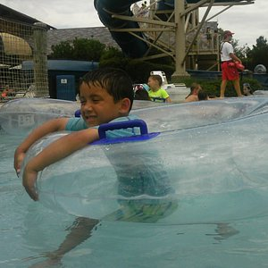 In addition to the park's lazy river it's water slide is a big attraction.
