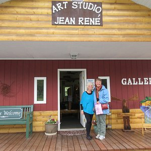 Jean Rene and visitor