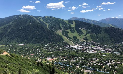 View of Aspen Valley from Smuggler Observation Deck