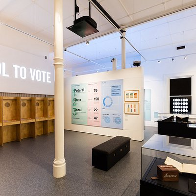 Centre of Democracy permanent gallery. Photo by Andre Castellucci.