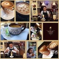 Es una descripción  visual del producto Ponche Suizo y la gran variedad de Cafés que ofrecemos .