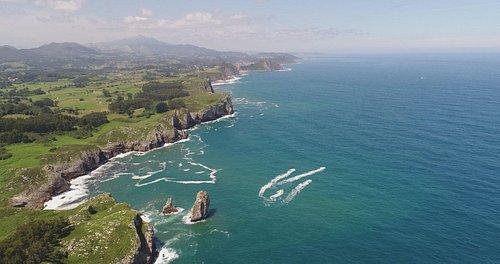 Espectacular vista de la ruta en moto de agua