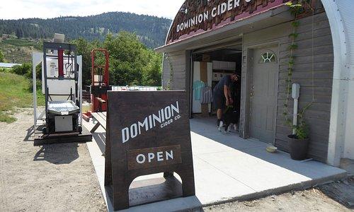 quonset hut tasting area.