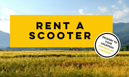 Rent a scooter and discover beautiful Vipava valley! We deliver scooter to your location!