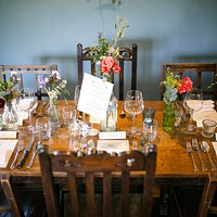 Table laid in function room.