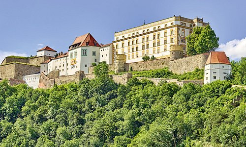 The magnificent 800-year-old Veste Oberhaus in Passau, Bavaria, houses the Oberhausmuseum.