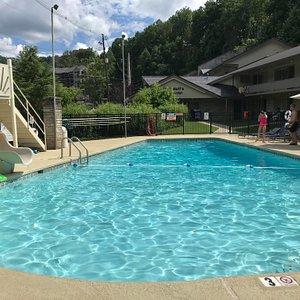 Jack Huff's Pool area with slide